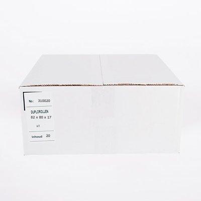 Duplorollen wit/wit 82x80x17mm - 20st/ds