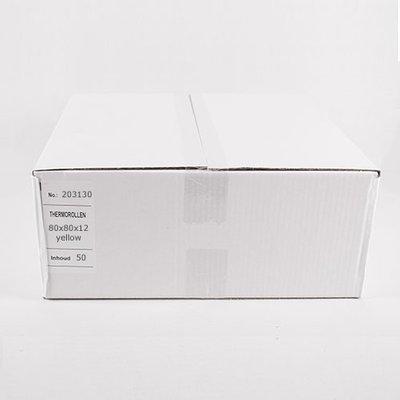 Thermorollen 80x80x12 mm-geel 50 st/ds